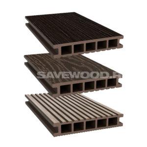 Savewood Ornus террасная доска темно-коричневый