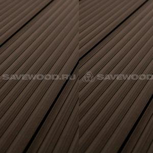 Savewood Quercus террасная доска двухсторонняя усиленная темно-коричневый
