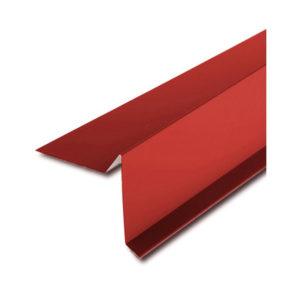 Планка ветровая (фронтонная) для битумной черепицы красный