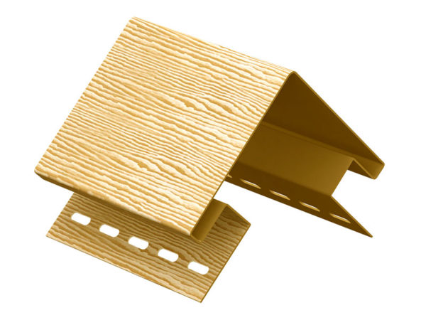 Ю-Пласт наружный угол серия Timberblock дуб золотой
