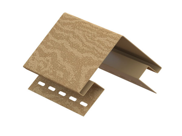 Ю-Пласт наружный угол серия Timberblock кедр янтарный