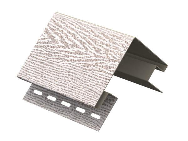 Ю-Пласт наружный угол серия Timberblock ясень беленый