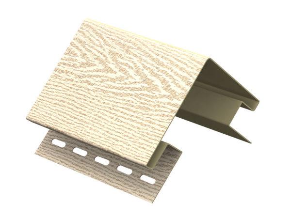 Ю-Пласт наружный угол серия Timberblock ясень золотистый