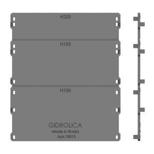 Торцевая заглушка для лотка пластикового DN150