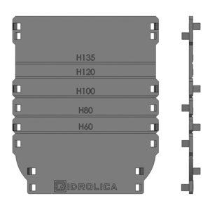 Торцевая заглушка для лотка пластикового DN100