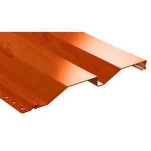 Корабельная доска металлический сайдинг Ecosteel кедр текстурированный