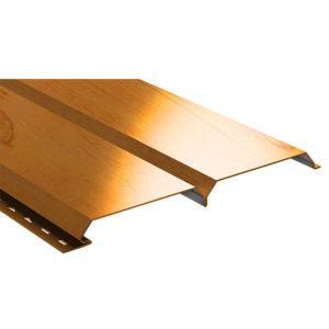 Lбрус металлический сайдинг Ecosteel золотой дуб
