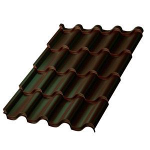 Металлочерепица Монтерроса темно-коричневый