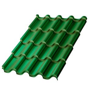 Металлочерепица Монтерроса зеленый