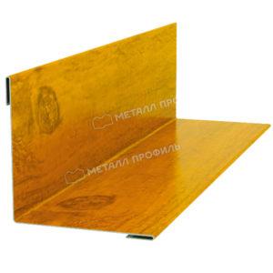 Планка угла наружного/внутреннего 75х75х3000 Ecosteel золотой дуб