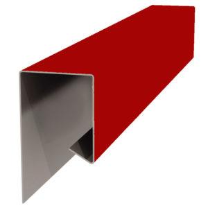 Планка J-профиля 24х18х2000 красный 3011