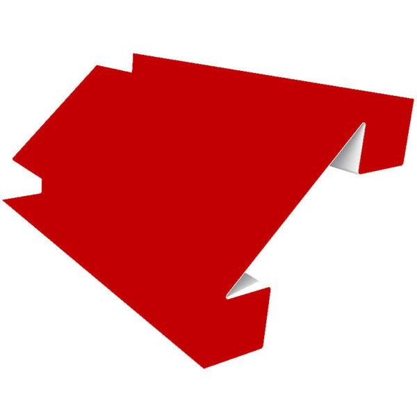 Планка угла внутреннего сложного 75х3000 Полиэстер красный 3011