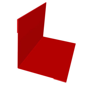 Планка угла наружного/внутреннего 75х75х3000 Полиэстер красный 3011