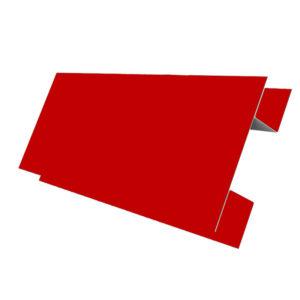 Планка стыковочная сложная 75х3000 Полиэстер красный 3011