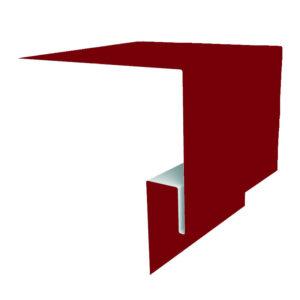 Планка откоса сложная 3D 245х75х2000 Полиэстер красный 3011