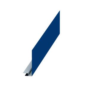 Планка карнизного свеса сложная синий 5005