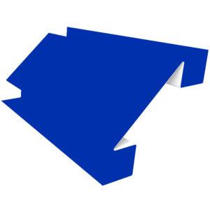 Планка угла внутреннего сложного 75х3000 Полиэстер синий 5005