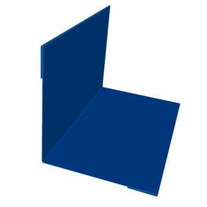 Планка угла наружного/внутреннего 75х75х3000 Полиэстер синий 5005