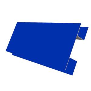 Планка стыковочная сложная 75х3000 Полиэстер синий 5005