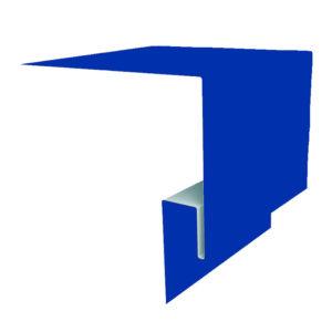 Планка откоса сложная 3D 245х75х2000 Полиэстер синий 5005
