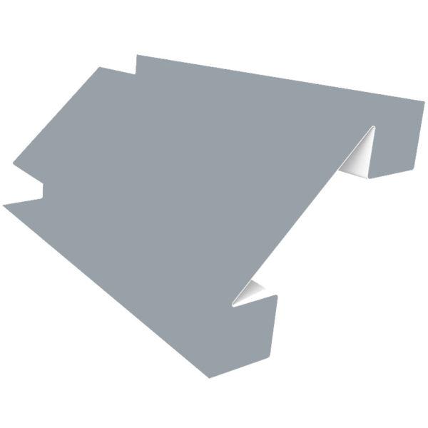 Планка угла внутреннего сложного 75х3000 Полиэстер светло-серый 7004