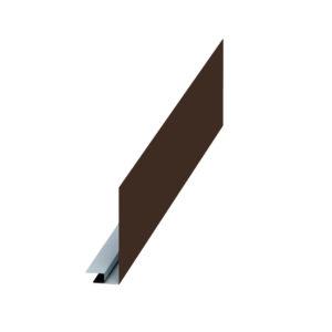 Планка карнизного свеса сложная коричневый 8017