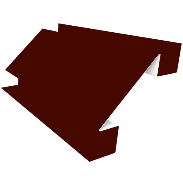 Планка угла внутреннего сложного 75х3000 Полиэстер коричневый 8017