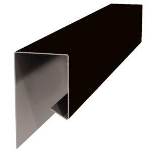 Планка J-профиля 24х18х2000 черный 9005