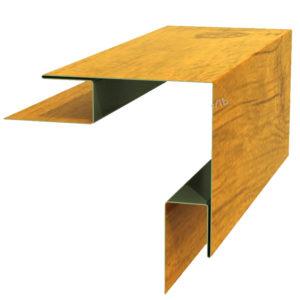 Планка угла наружного сложного 75х75х3000 Ecosteel золотой дуб