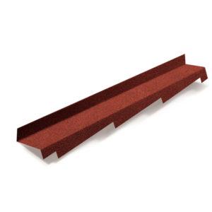 Metrotile боковое примыкание красный
