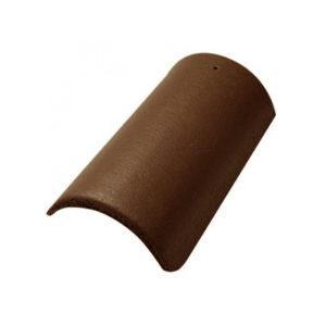 Коньковая черепица с зажимом коричневый