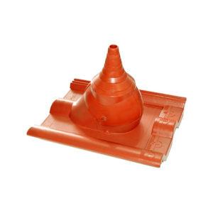 Комплект для прохода через кровлю кабеля или антенной штанги красный