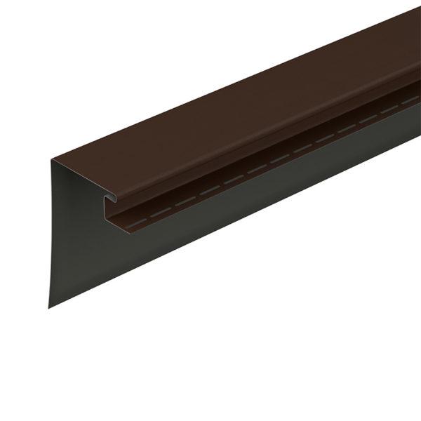 Фасадный профиль околооконный 230 мм Döcke коричневый