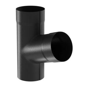 Тройник трубы Aquasystem черный RR33 PURAL MATT