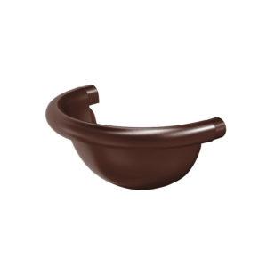 Заглушка желоба полукруглая Aquasystem коричневый RAL8017 PURAL MATT