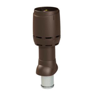 Вентиляционный выход утепленный 125P/ИЗ/500 FLOW vilpe коричневый