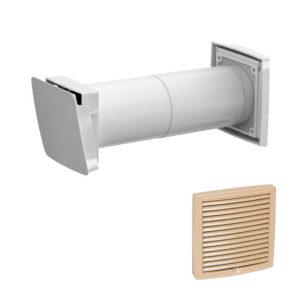 Приточный клапан с термостатом Vilpe WIVE 100 с бежевой решеткой