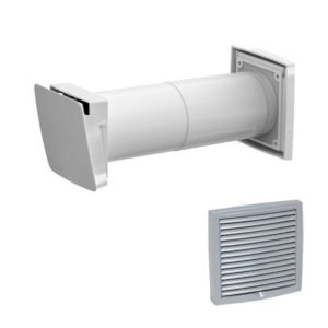 Приточный клапан с термостатом Vilpe WIVE 100 с серой решеткой